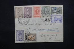 GRECE - Enveloppe De Athènes Par Avion Pour Londres En 1947, Affranchissement Plaisant - L 45118 - Grèce