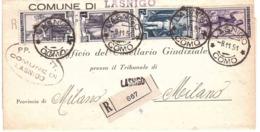 COMUNE DI LASNIGO COMO - 1946-60: Marcophilia