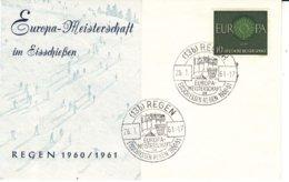Canoë - Allemagne - République Fédérale - Lettre De 1961 - Oblit Regen - Championnat Eisschiessen - Europa 60 - Kanu