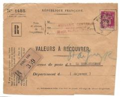 PERFORE HC Huilerie Centrale Paris Sur 1F 75 Paix CAD Paris 116 D 1934 Devt D'enveloppe  .. ..G - Francia