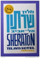 HOTEL MOTEL MOTOR PENSION SHERATON TEL AVIV ISRAEL LUGGAGE LABEL ETIQUETTE AUFKLEBER DECAL STICKER - Hotel Labels