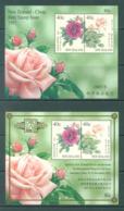 NEW ZEALAND - MNH/** - 1997 - SHANGAI FLOWER ROSE - Yv 117-118 -  Lot 20623 - Blocs-feuillets