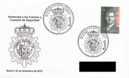 SPAIN. POSTMARK POLICE PHILATELIC EXHIBITION. MADRID 2018 - Marcofilia - EMA ( Maquina De Huellas A Franquear)
