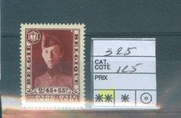 325 Xx COB 125.00€ - Belgium