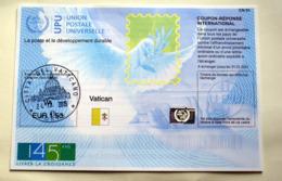 VATICAN 2019, THE NEW COUPON REPONSE INTERNATIONAL 145 YEARS UPU - Nuovi