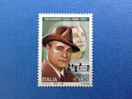 2007 ITALIA FRANCOBOLLO NUOVO STAMP NEW MNH** MUSICA OPERA BENIAMINO GIGLI - 2001-10: Mint/hinged