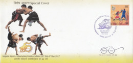 India  2014  Wrestling  Dimapur  Boxing Stamp  Special Cover  # 23613 D Inde Indien - Lutte