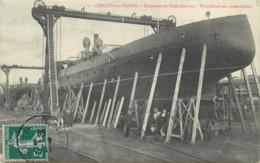 CHALON SUR SAONE - Chantiers Du Petit-Creusot, Torpilleurs En Construction. - Guerre