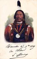 Thematiques Etats Unis Indiens Chief Buckskin Charlie Cachet Tacoma Wash 30 12 1905 - Tacoma