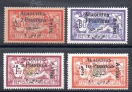 ALAOUITES - YT PA N° 1 à 4 - Neufs * - MH - Cote: 50,00 € - Alaouites (1923-1930)