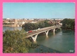 CPSM FRANCE 31  ~  TOULOUSE  ~  90  Le Pont Saint-Michel  ( Théojac Dentelée 50/60 ) - Toulouse