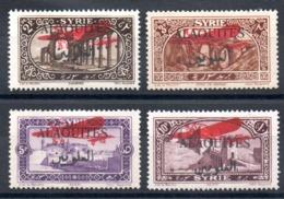 ALAOUITES - YT PA N° 9 à 12 - Neufs * - MH - Cote: 15,00 € - Alaouites (1923-1930)
