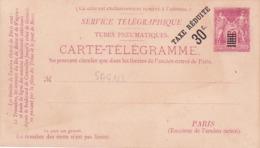 Carte Télégramme Sage 50 Rouge N2 Neuve - Cartes Postales Types Et TSC (avant 1995)