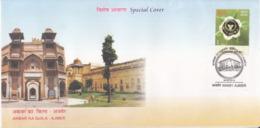India  2014  Mogul Emperor  Akbar Ka Quila  Fort  Special Cover  # 23615  C&D Inde Indien - Islam