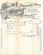 Facture & Traite 1901/ Photo Usine / PARIS Rue Bondy / 60 ERCUIS /  Orfévrerie ERCUIS - France