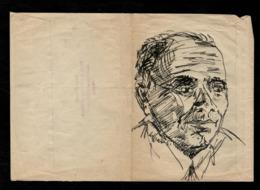 Silvio Loffredo Ritratto A China Su Busta Viaggiata - Altre Collezioni
