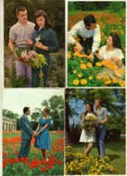 Couples 4 Scenes.fashion, Vogue, Style.flowers, Park - Paare