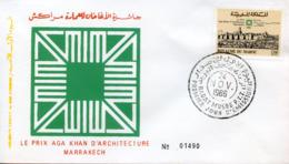 "Maroc,FDC 1er Jour; 1986, TP N°1015 "" Prix Aga Khan D'architecture,Marrakech ""Morocco,Marruecos - Marruecos (1956-...)"