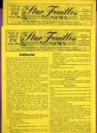 DT239B BULLETIN STAR FEUILLES NEWS  N°79 ET 80 TIMBRES FEUILLES 2002 - Riviste: Abbonamenti