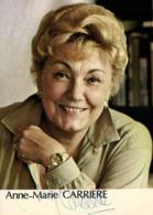 Autographe Anne Marie CARRIERE  RV - Actors
