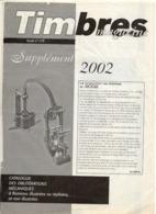 DT239A TIMBRES MAGAZINE SUPPLEMENT OBLITERATION N°278 ANNEE 2002 - Riviste: Abbonamenti