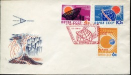 48445 Russia, Fdc  Cover 1964  Internationale Jahre Der Ruhigen Sonne,years Of The Quiet Sun, Annee Du Soleil - Astronomie