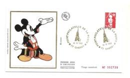 1992 - Francia - Busta Timbrata A Walt Disney Paris        FDC      16/12 - Disney