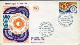 48447 Gabon, Fdc  Cover 1965  Internationale Jahre Der Ruhigen Sonne,years Of The Quiet Sun, Annee Du Soleil - Astronomie
