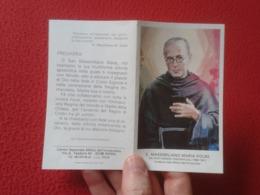 TARJETA ESTAMPA RELIGIOSA RECORDATORIO RELIGIOSO DÍPTICO S. MASSIMILIANO MARIA KOLBE POLAND POLSKA MILLIZIA....VER FOTOS - Religión & Esoterismo