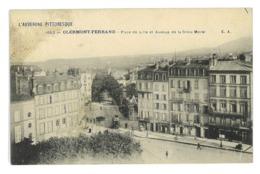 CPA 63 CLERMONT-FERRAND PLACE DE LILLE ET AVENUE DE LA CROIX MOREL - Clermont Ferrand