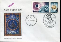 48451 Romania, Spcial Cover And Postmark Cluj Napoca, 2003 Nostradamus,doctor Mathematical, Astronom - Astronomia
