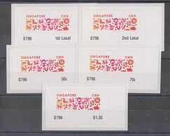 Singapore 2019 Zodiac Design  ATM Frama Machine Labels Mint - 5 Values - ATM - Frama (labels)