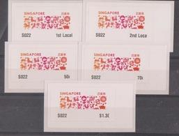 Singapore 2019 Zodiac Design  ATM Frama Machine Labels Mint - 5 Values - Astrologia
