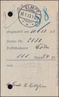 Deutsches Reich Einzahlungsbeleg ELMPT 10.1.1015 - Deutschland