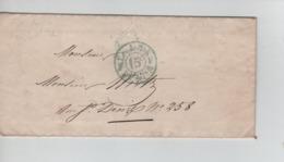 PR7532/ Précurseur LAC Paris Le 19/7/1849 M.Ch.Boudin Avoué C.Levée De 8h S & 7h M 15c > E/V C.d'arrivée Paris 22/7/49 - 1849-1876: Période Classique