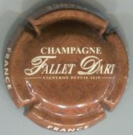 CAPSULE-CHAMPAGNE FALLET-D'ART N°18 Marron & Créme - Champagnerdeckel