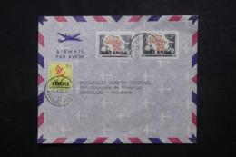 KATANGA - Enveloppe De Elisabethville Pour Bruxelles En 1961, Affranchissement Plaisant Surchargés - L 45144 - Katanga