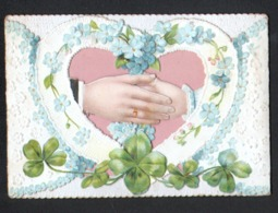 Decoupis à Système, Mains, Coeur, Voir Scans - Fleurs