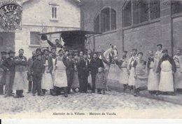CP REPRO - Abattoirs De La Villette - Meneurs De Viande - Halles