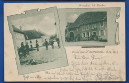 Gruss Aus NIEDERSTINZEL   Wirtschaft Ed Karcher   Animées    écrite En 1902 - Frankreich