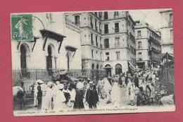 AF - ALGER Le Marché Arabe De La Place Randon Et Synagogue - Scènes & Types
