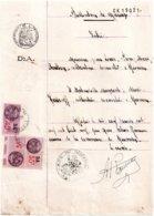 Publication De Mariage 1939, Mairie De Querrien, 3 Timbres Fiscaux De 55c DA, 40c DA Et 5c, Violet - Vieux Papiers