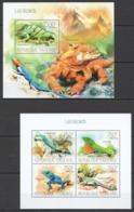 TG682 2013 TOGO TOGOLAISE FAUNA REPTILES LES LEZARDS LIZARDS KB+BL MNH - Reptilien & Amphibien