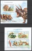 TG686 2013 TOGO TOGOLAISE FAUNA REPTILES PREHISTORIC LIFE DINOSAURS KB+BL MNH - Prehistorics