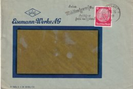 AALLEMAGNE 1936 LETTRE DE STUTTGART  AVEC TIMBRE PERFORE/PERFIN - Allemagne