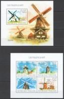 TG689 2013 TOGO TOGOLAISE ARCHITECTURE MILLS WINDMILLS LES MOULINS A VENT KB+BL MNH - Windmills