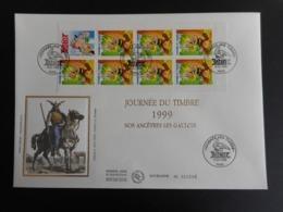 """FDC Grand Format - Carnet Journée Du Timbre 99 """"ASTERIX"""", Oblitération 6/3/1999 - FDC"""