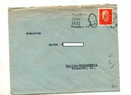 Lettre  Flamme Frankfurt Annee Goethe - [7] Repubblica Federale