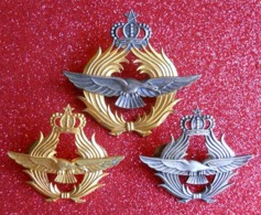 3 Insignes Pilote Armée De L'air Pour Français Maroc Période Protectorat 1956-1962 Fabricant Arthus Bertrand - Airforce