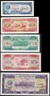 * Korea 0.5 1 5 10 50 Won 1959 ! UNC ! Set 5 Notes ! - Korea, North